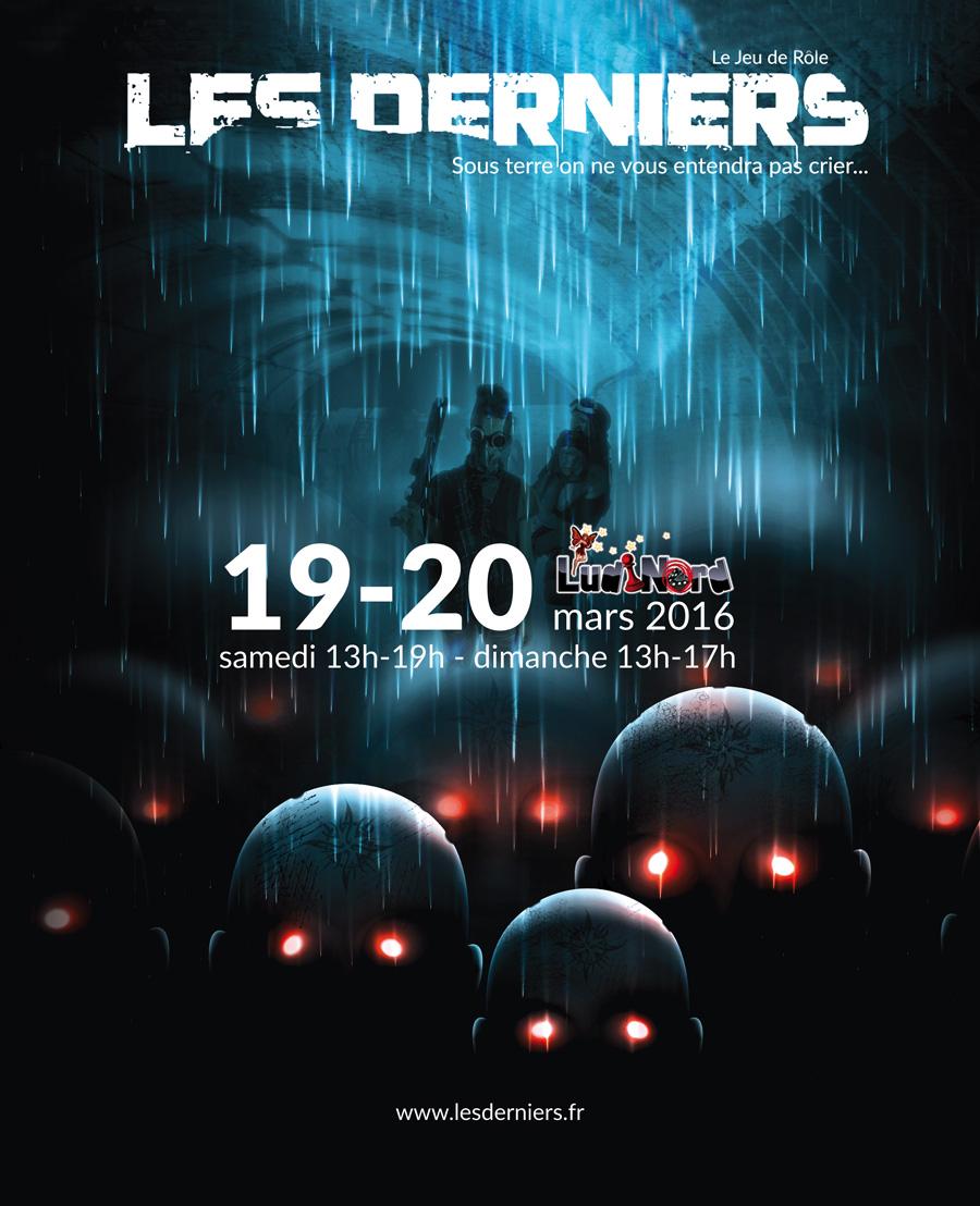 """Ludinord 2016 Affiche de Sébastien Lamblin, initiateur du projet """"Les Derniers"""""""